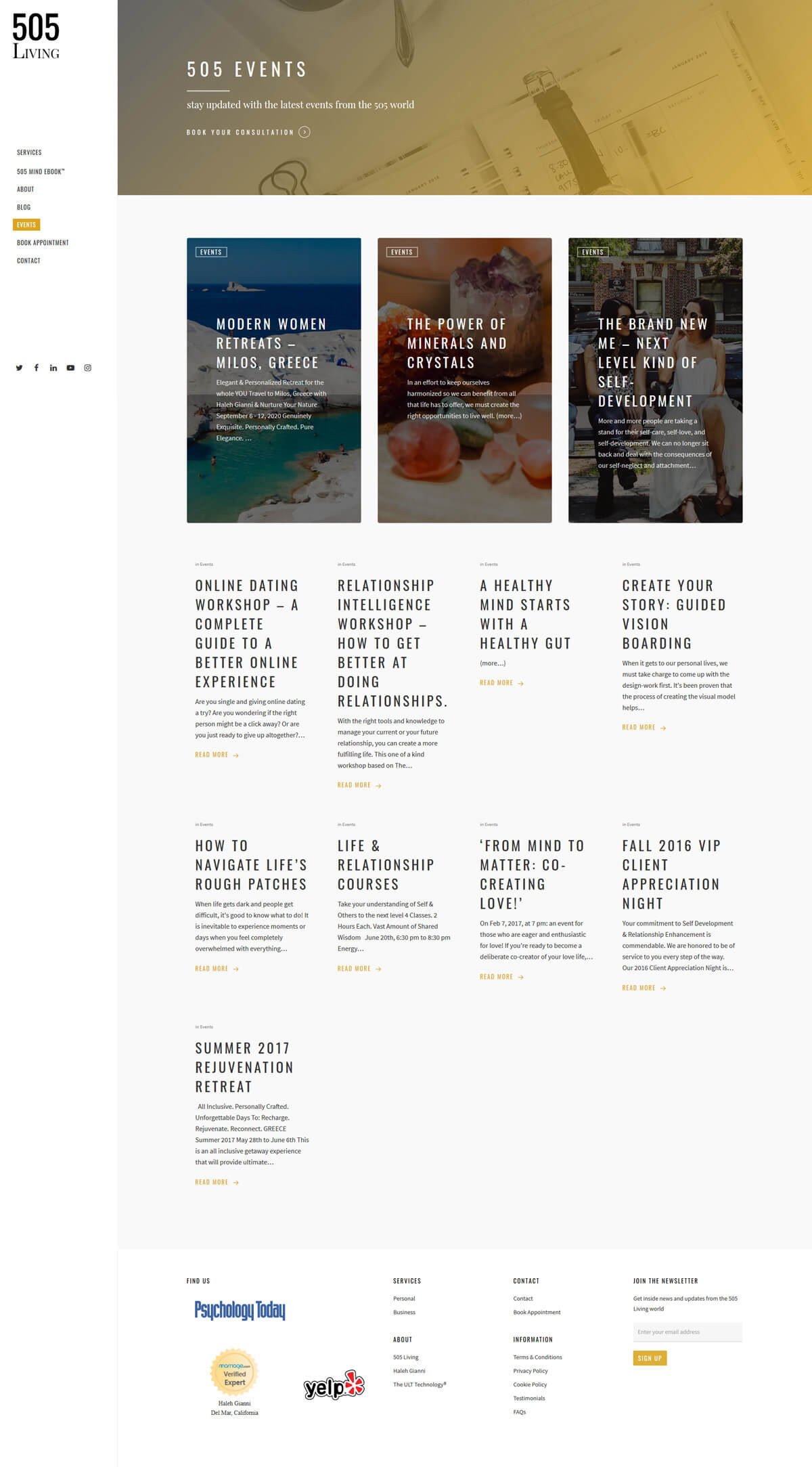 505 Living - Case Study - developed by Digital Artifacts Creative