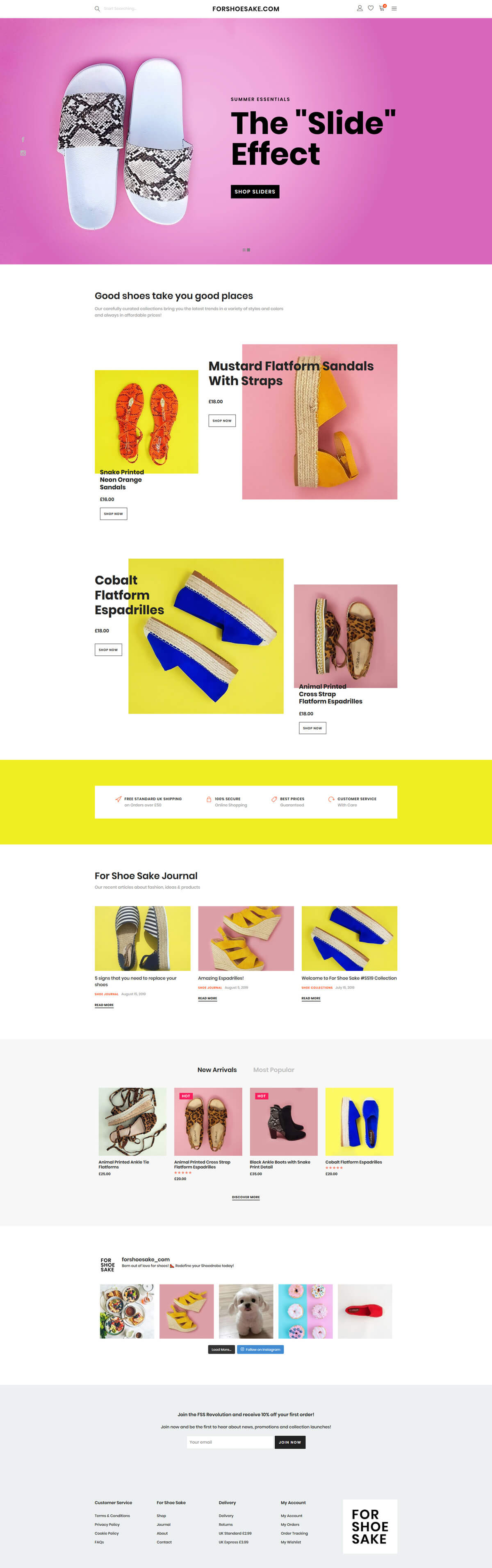 For Shoe Sake - forshoesake.com - Case Study 1 - developed by Digital Artifacts Creative