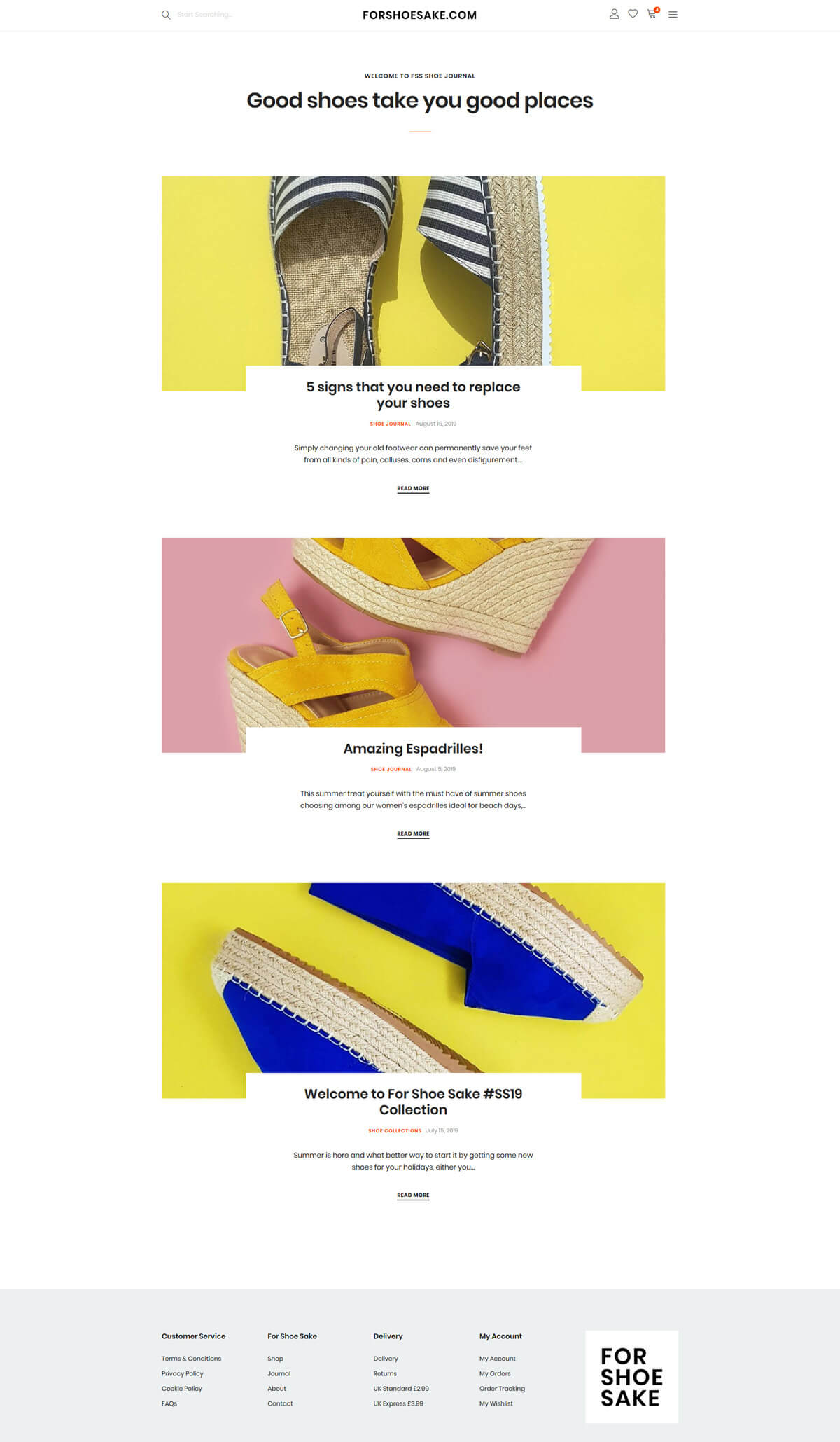 For Shoe Sake - forshoesake.com - Case Study 3 - developed by Digital Artifacts Creative