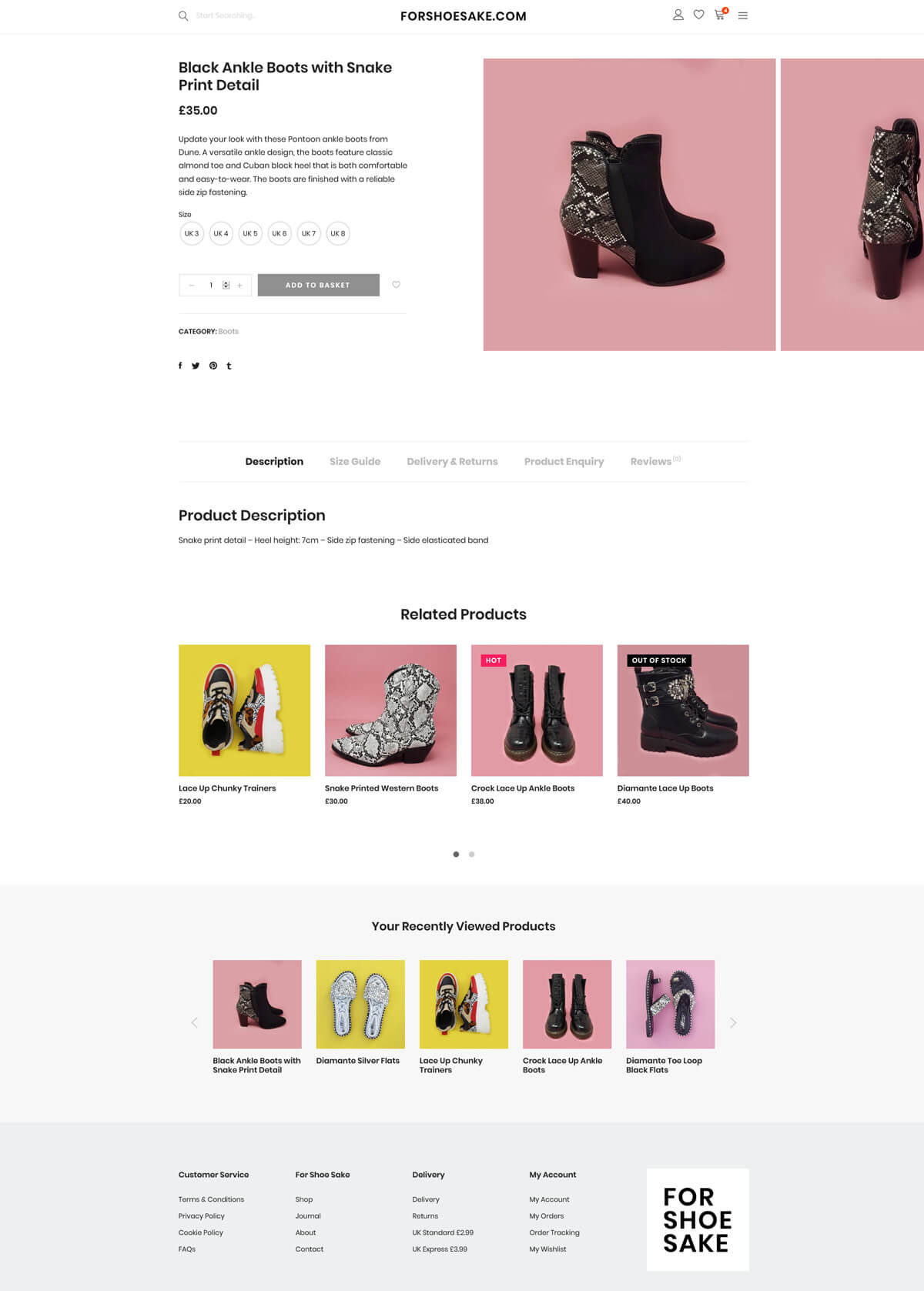 For Shoe Sake - forshoesake.com - Case Study 5 - developed by Digital Artifacts Creative