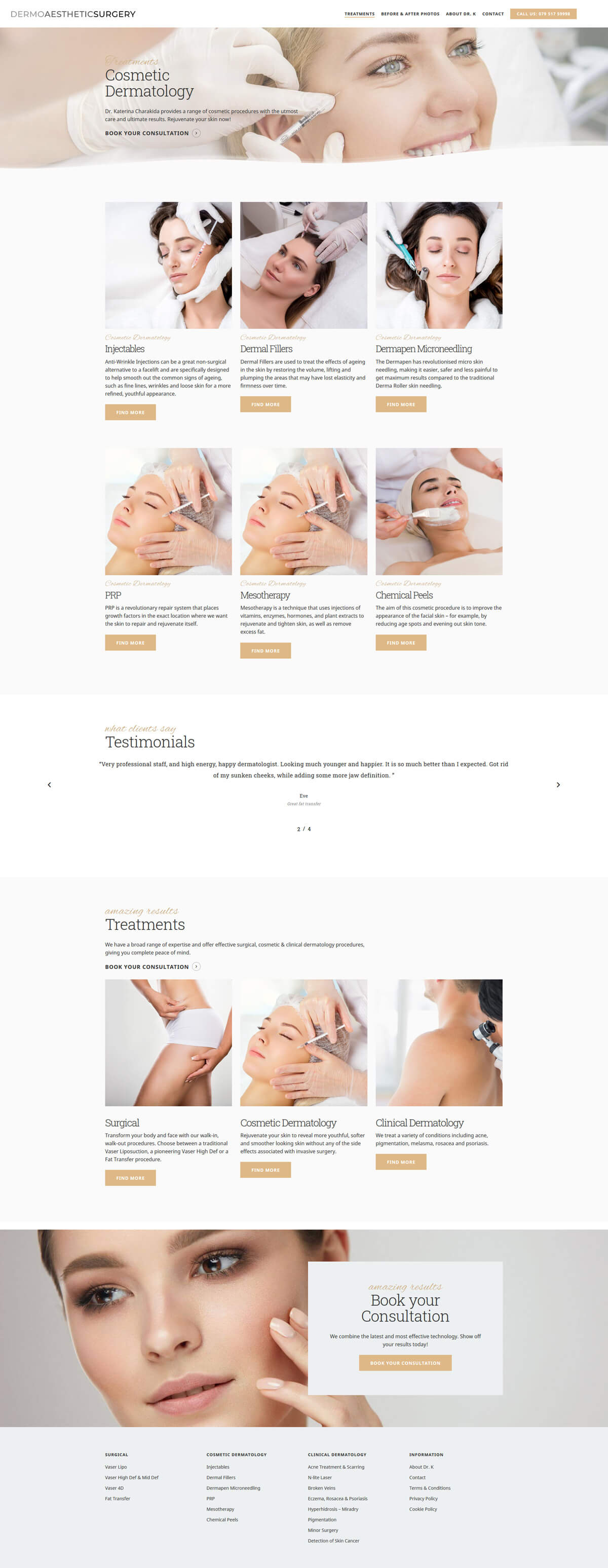 Dermo Aesthetic Surgery - dermoaestheticsurgery.com - Case Study 3 - developed by Digital Artifacts Creative