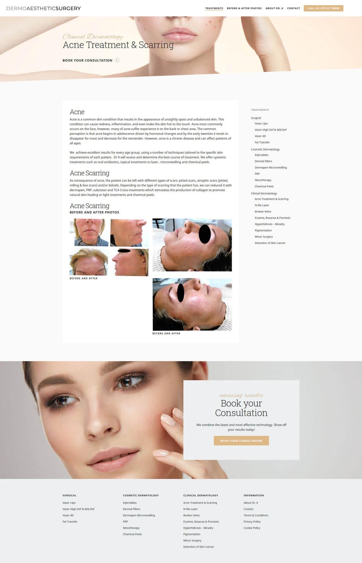 Dermo Aesthetic Surgery - dermoaestheticsurgery.com - Case Study 5 - developed by Digital Artifacts Creative